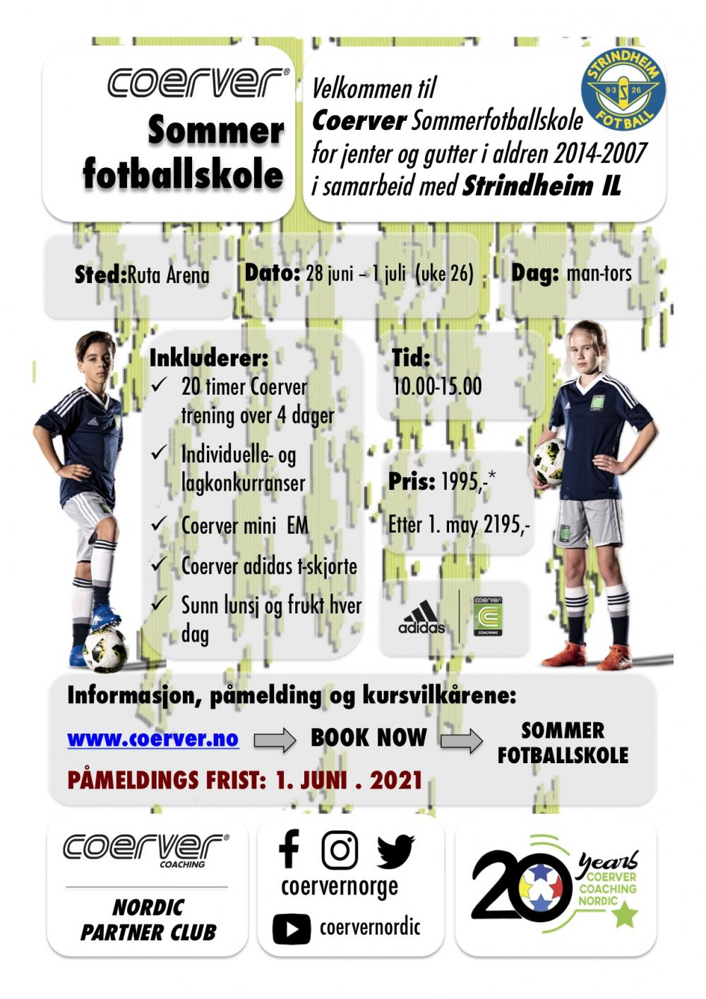 Coerver Sommerfotballskole 2021 (UKE 26) Trondheim