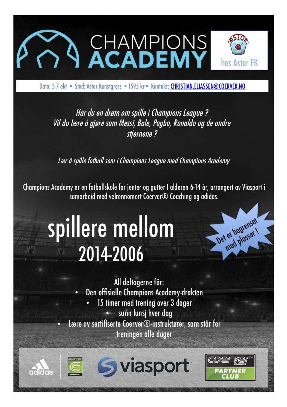 Champions Academy hos Astor FK  2020