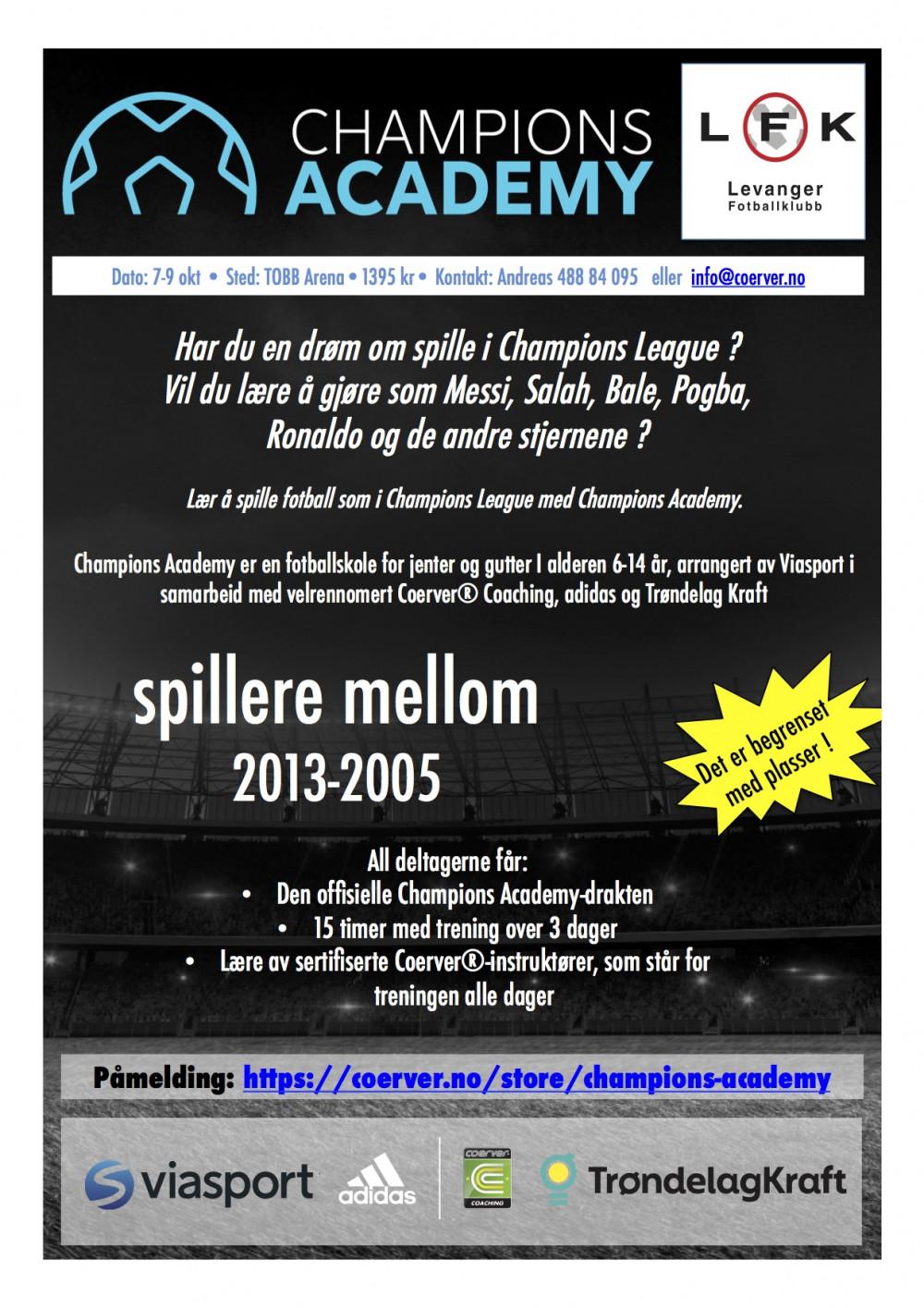 Champions Academy hos Levanger FK