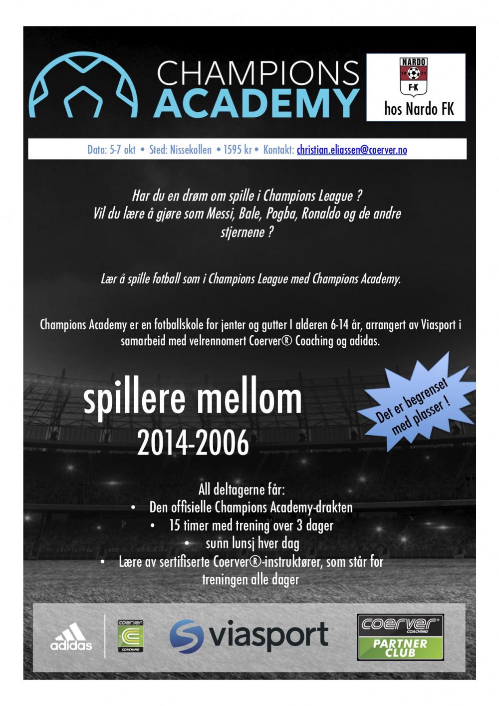Champions Academy hos Nardo FK 2020