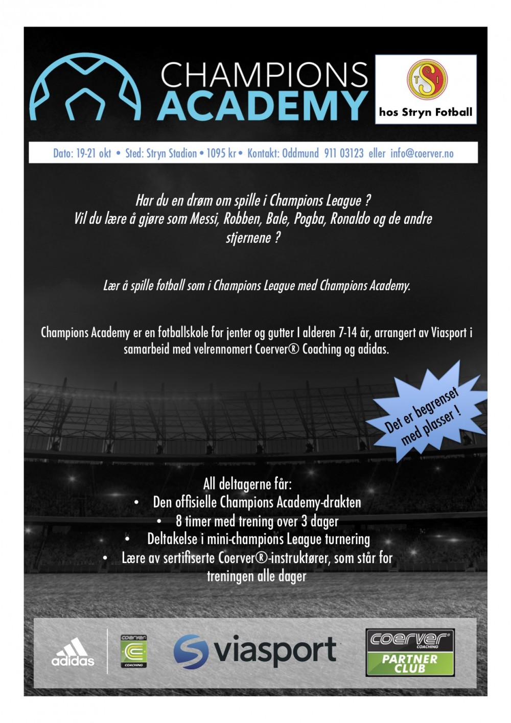 Champions Academy hos Stryn Fotball 19-21 okt