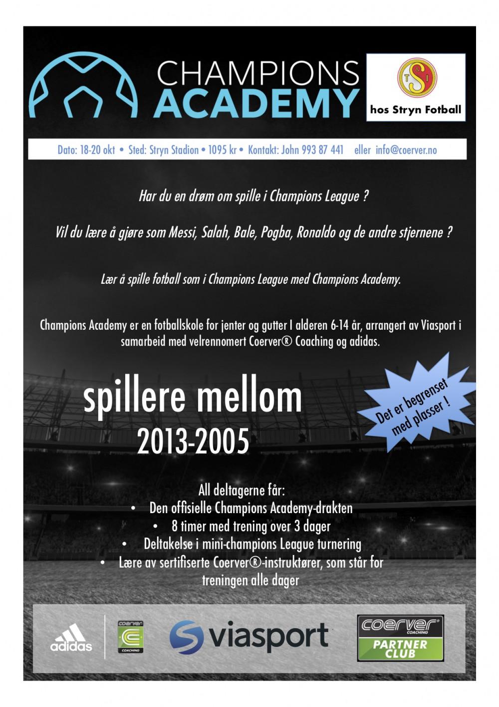 Champions Academy hos Stryn Fotball okt 18-20