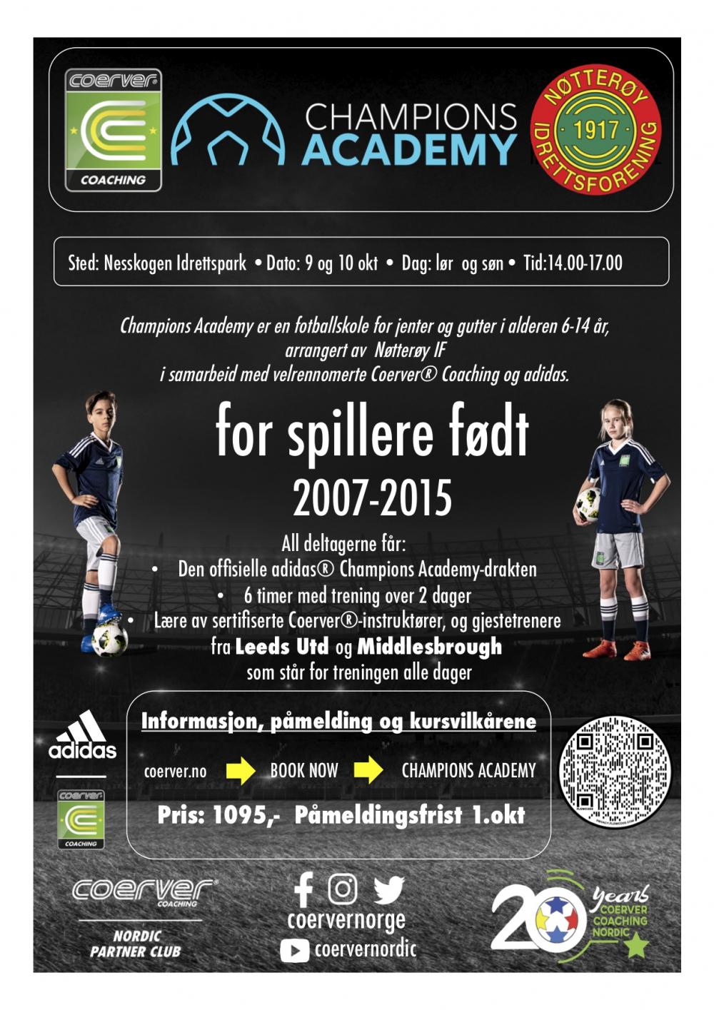 Champions Academy hos Nøtterøy IF 2021