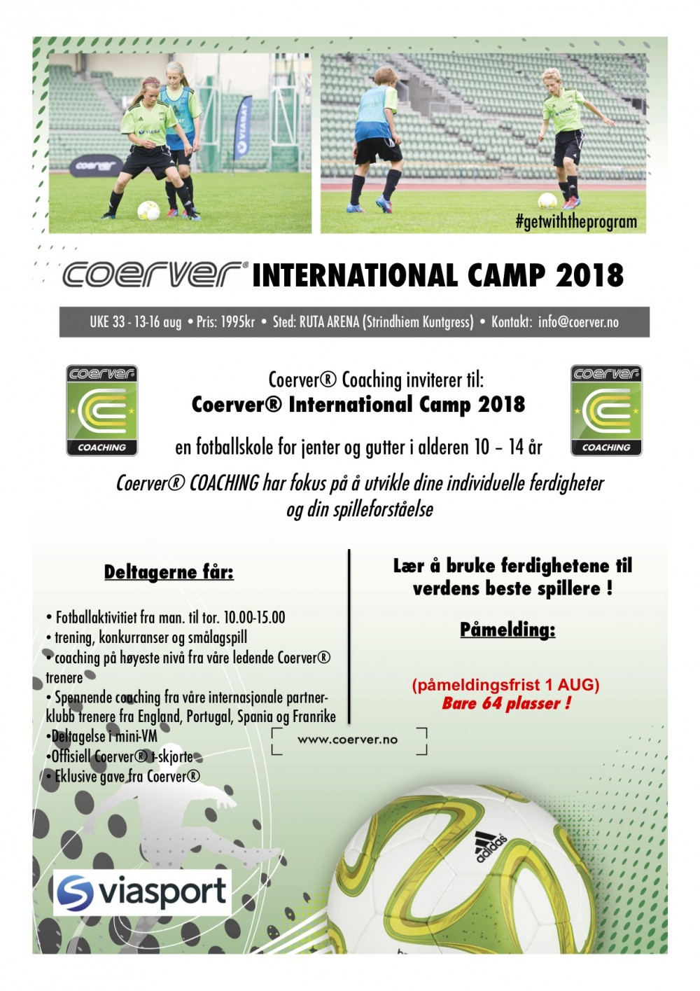 Coerver International Camp - Trondheim 2018
