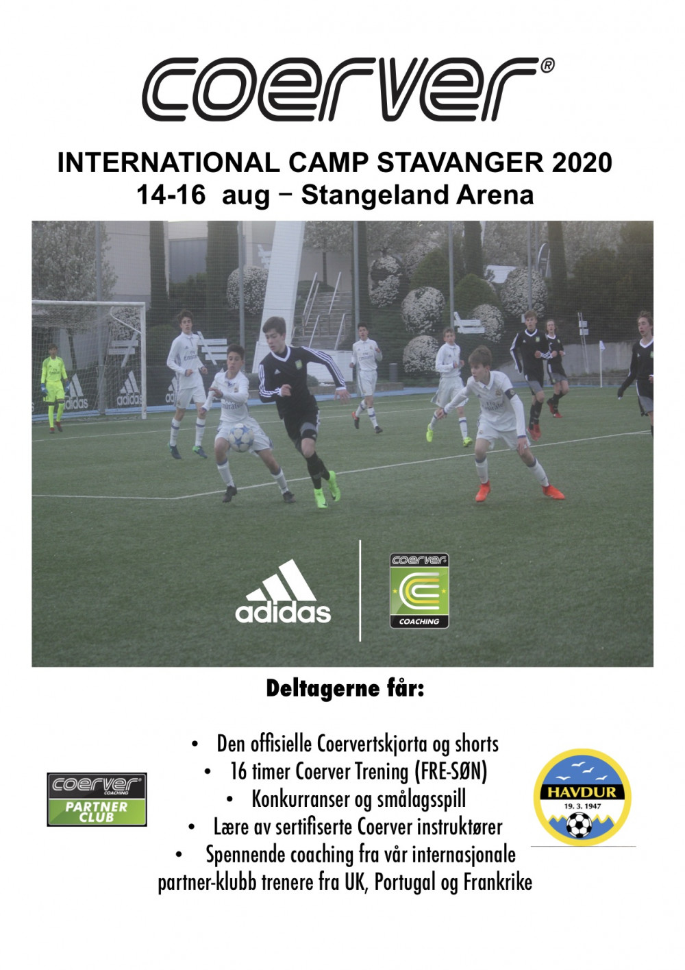 Coerver International Camp - Stavanger 2020 (14-16 AUG)