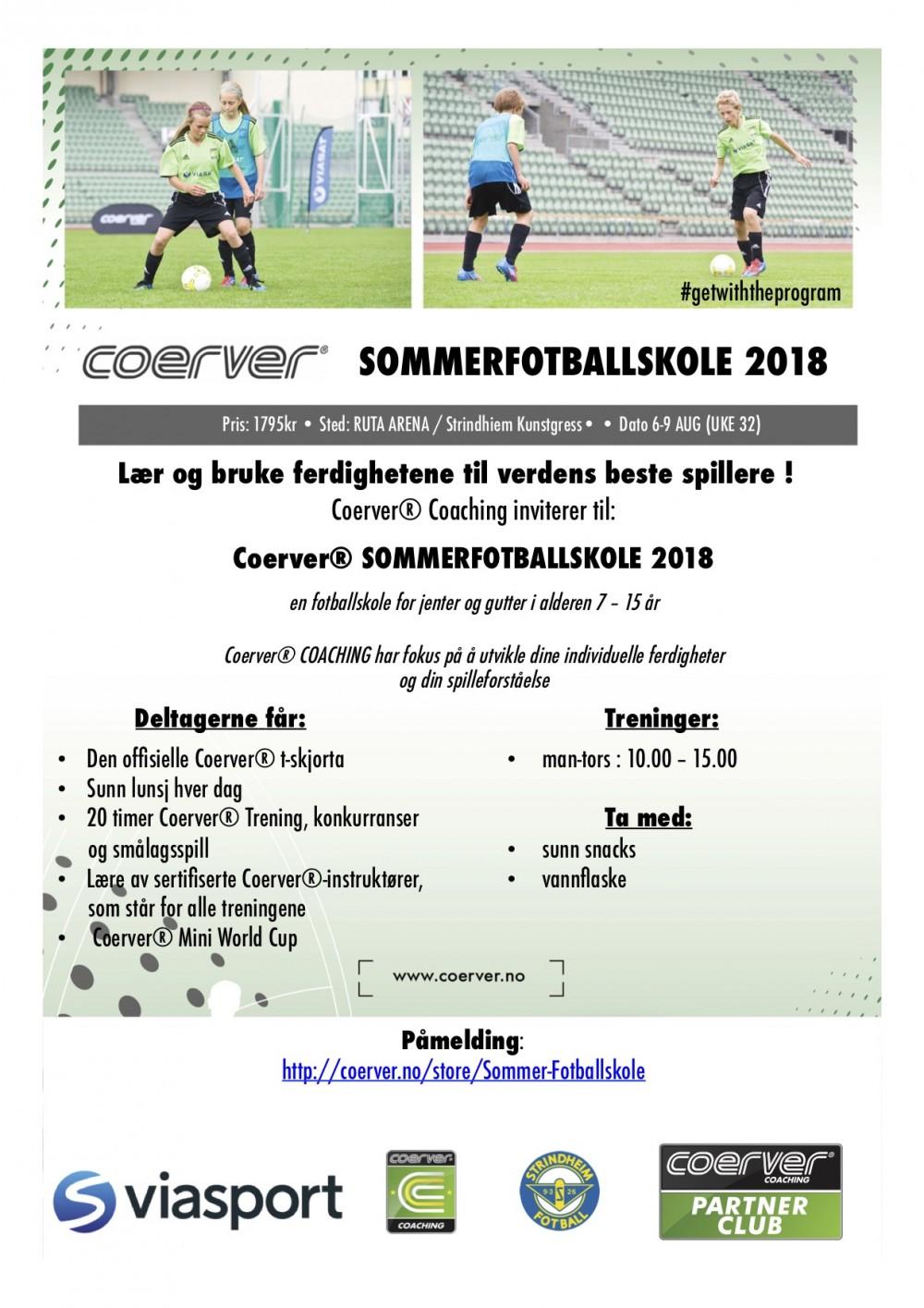 Coerver Sommerfotballskole hos Strindheim IL (uke 32)  2007-2011