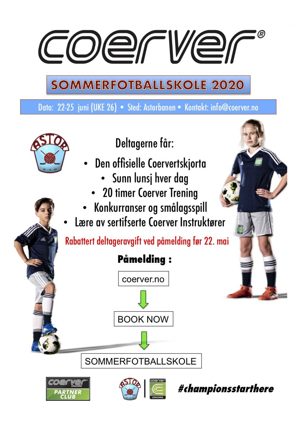 Coerver Sommerfotballskole hos Astor FK  (UKE 26) 2006-2013