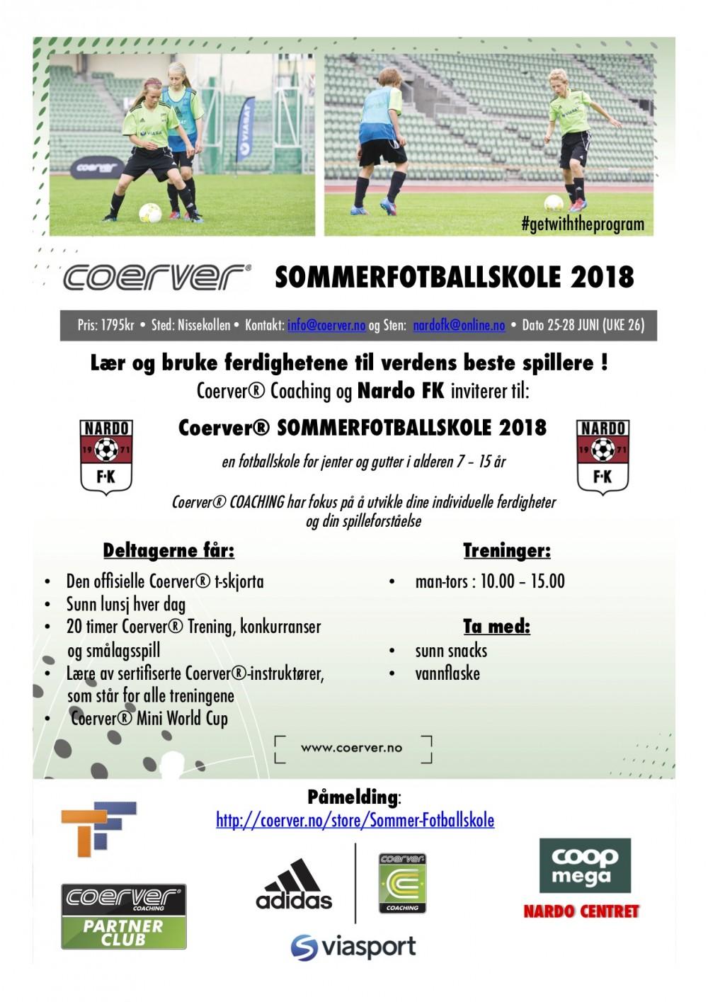 Coerver Sommerfotballskole hos Nardo FK 2003-2011