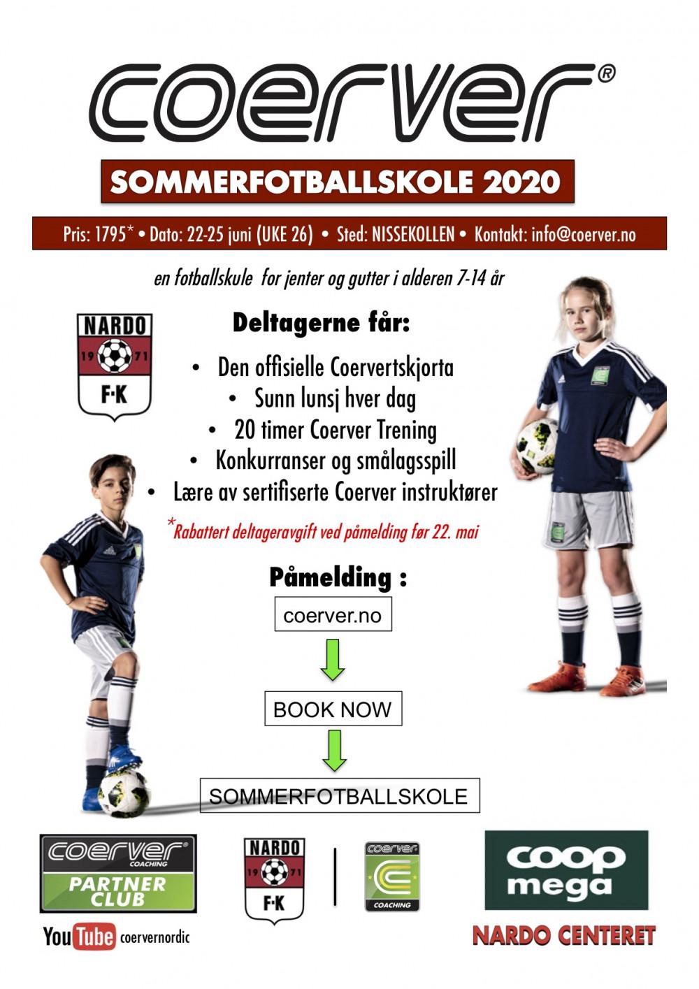 Coerver Sommerfotballskole hos Nardo FK (UKE 26)  2006-2013