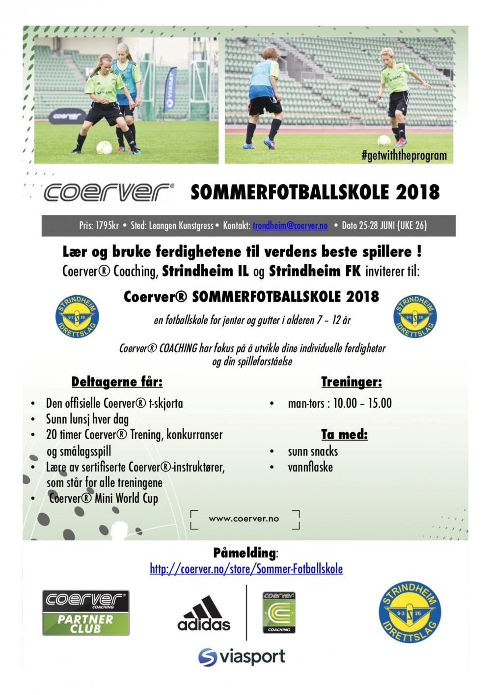 Coerver Sommerfotballskole hos Strindheim IL  2006-2011