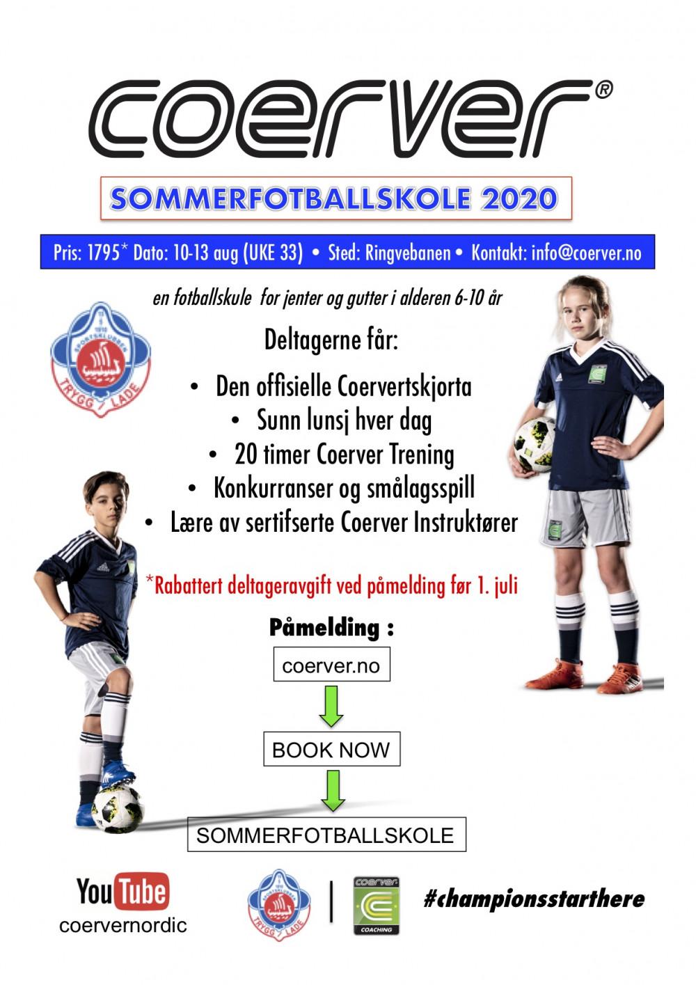 Coerver Sommerfotballskole hos Trygg Lade (UKE 33) 2010-2013