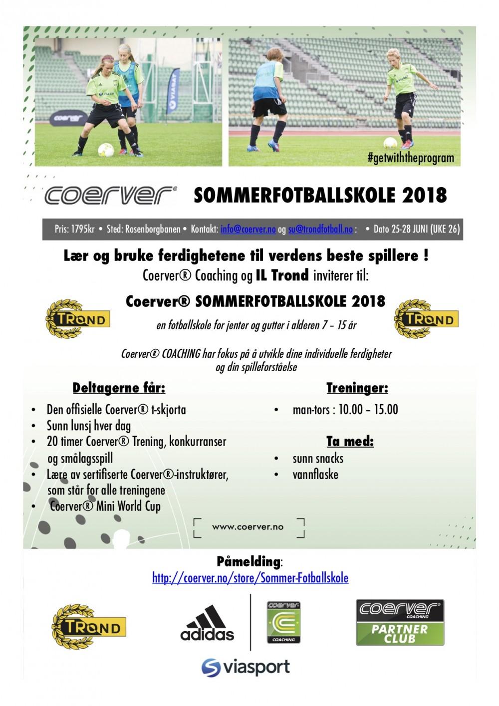 Coerver Sommerfotballskole hos IL Trond 2003-2011