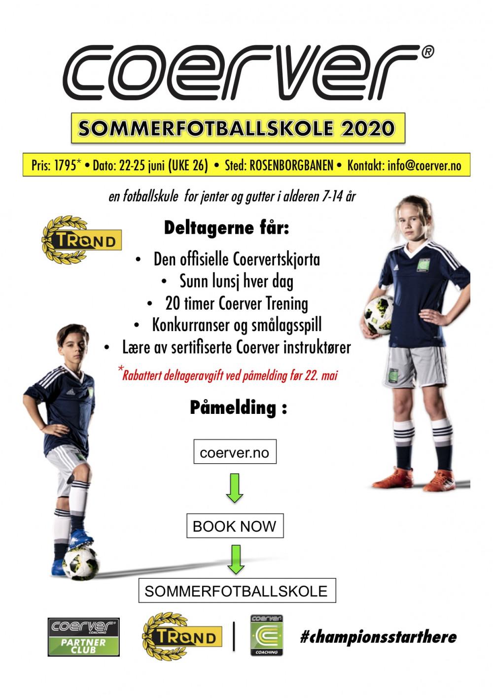Coerver Sommerfotballskole hos IL Trond (UKE 26)  2006-2013