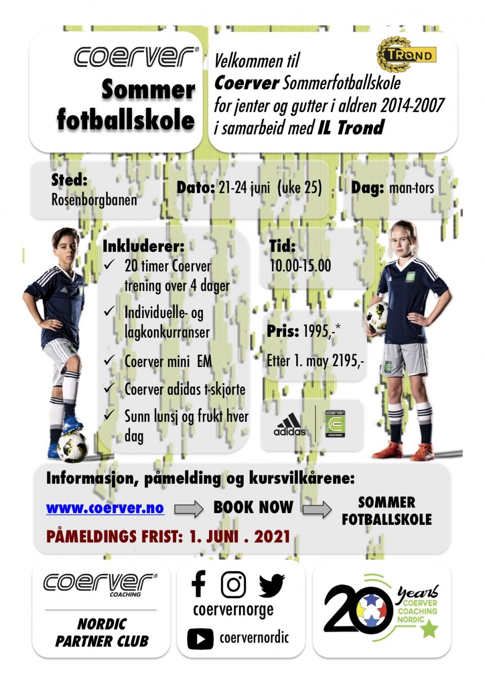 Coerver Sommerfotballskole hos IL Trond 2021 (uke 25)