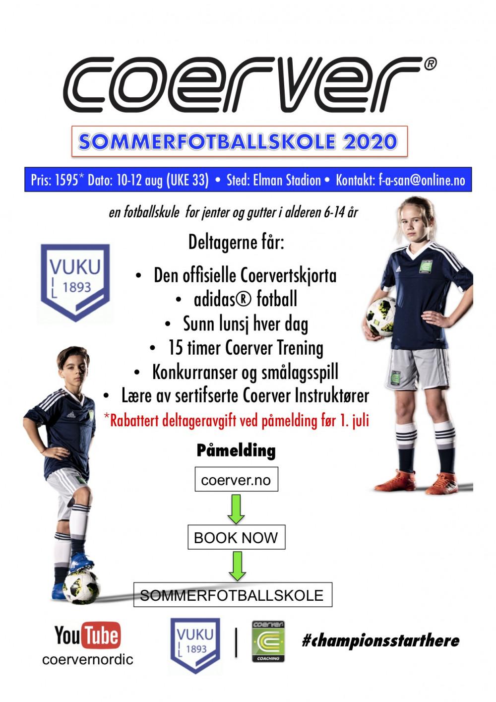 Coerver Sommerfotballskole hos Vuku IL (UKE 33) 2006-2013