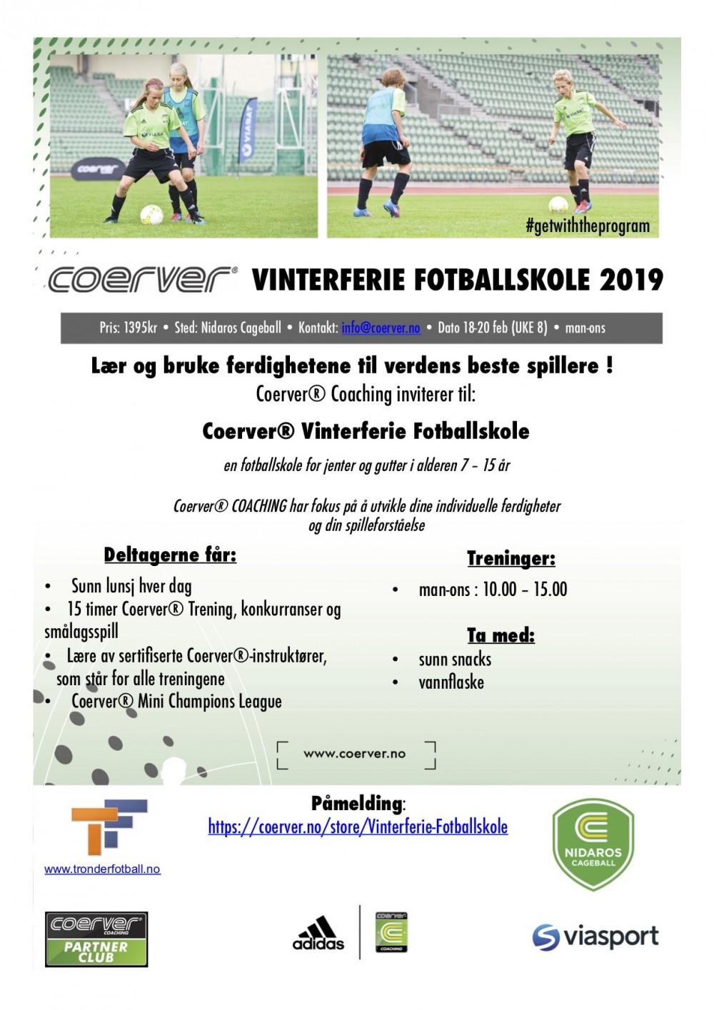 Vinterferie Fotballskole i Trondheim uke8 2020