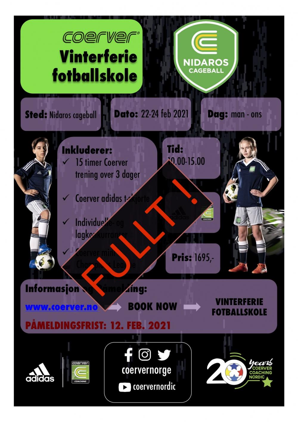 Vinterferie Fotballskole i Trondheim uke 8 2021