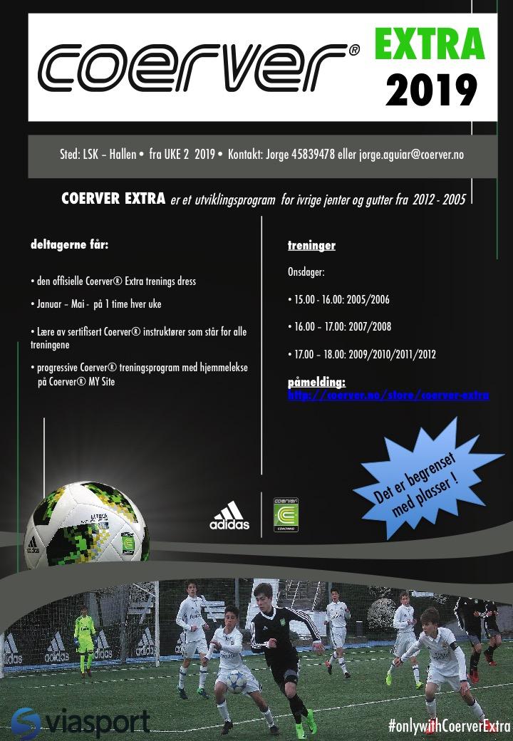 Coerver LSK Extra 2019 - Ny melding kun for spillere født i 2009/10/11/12