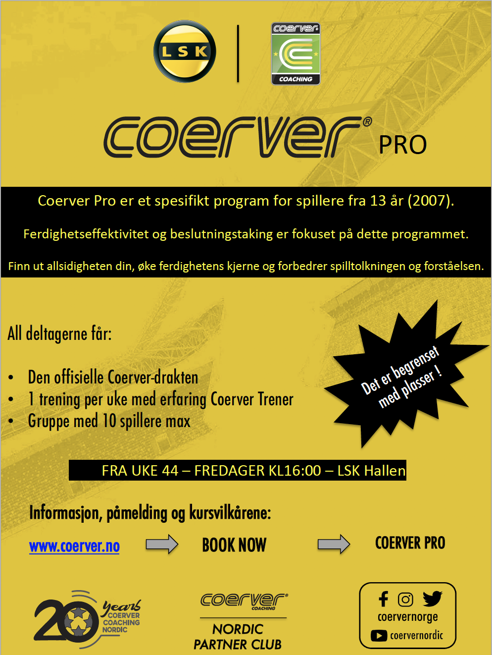 Coerver Pro i LSK (off season)