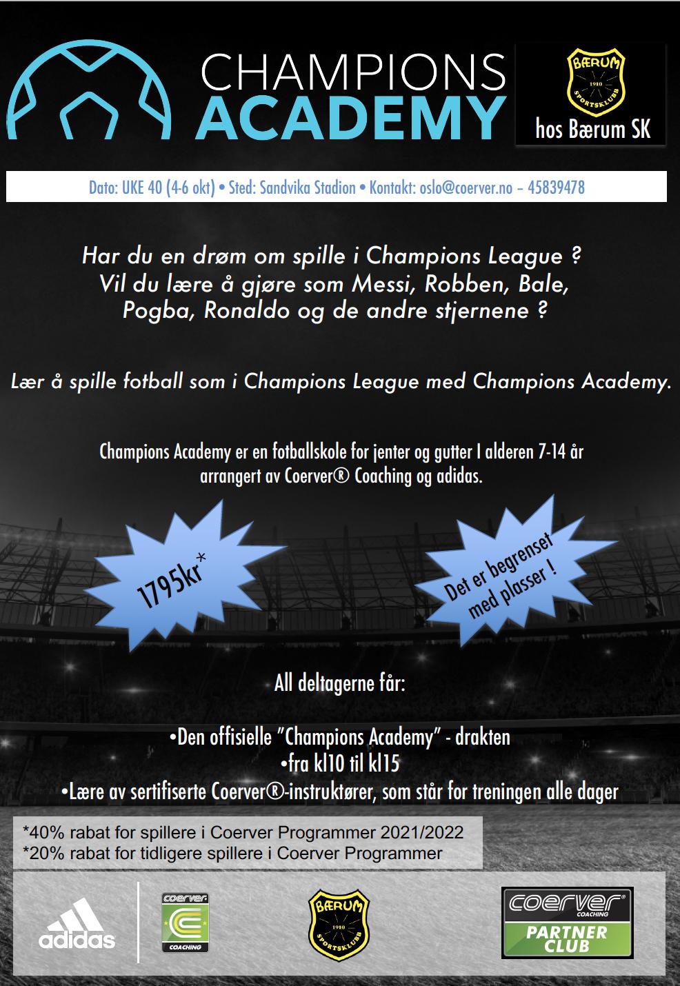 Champions Academy i BSK 2021