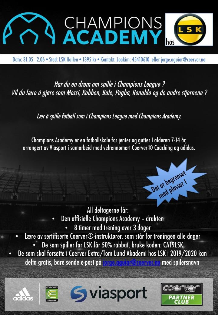 Champions Academy Fotballskole i LSK - uke 22