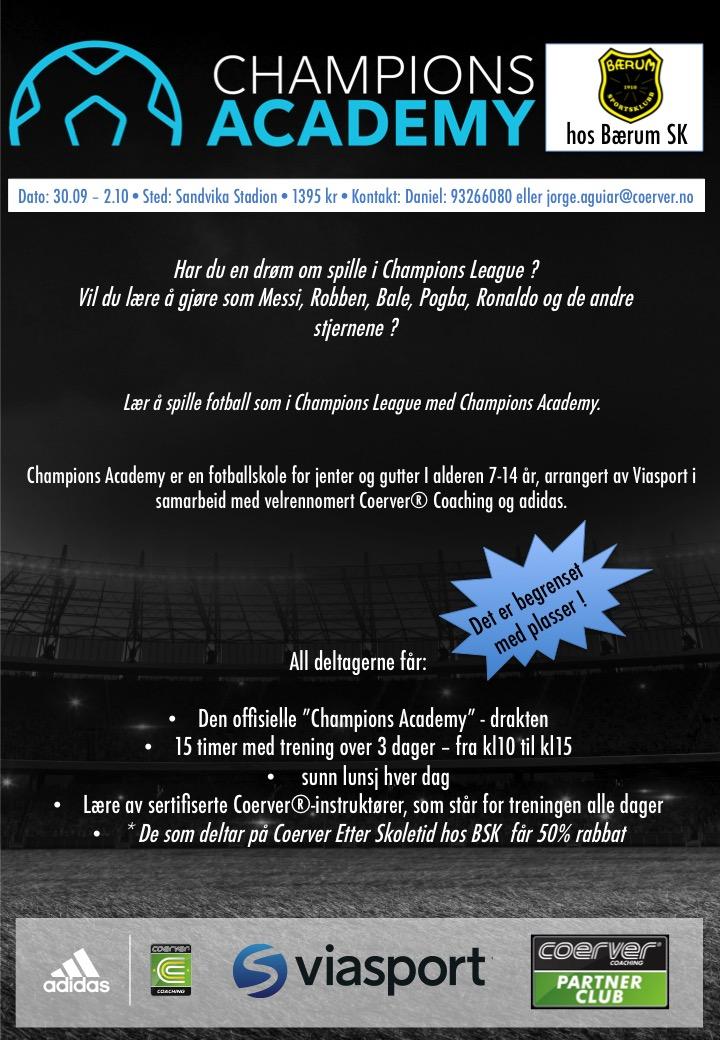 Champions Academy hos BSK uke 40