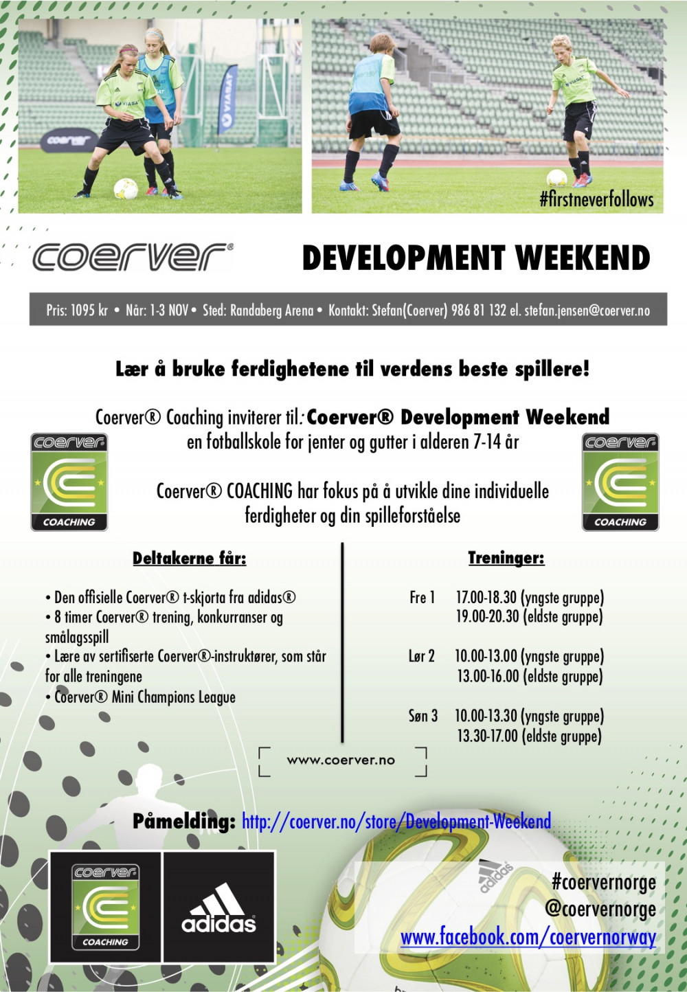 Development Weekend i Randaberg Arena 1-3 NOV