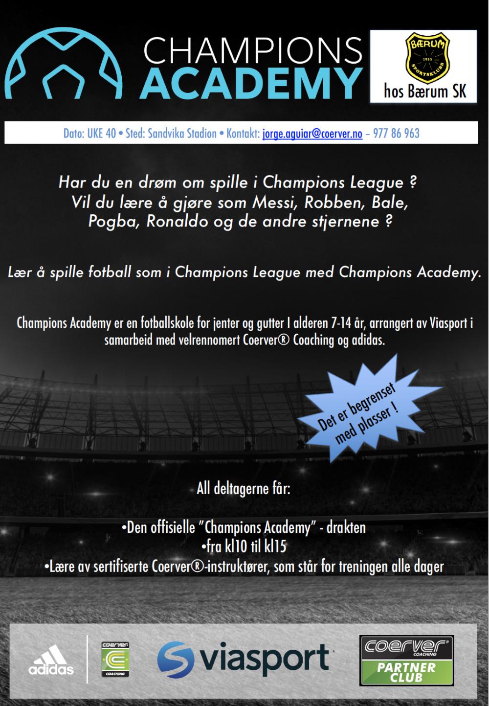 Champions Academy hos Bærum SK  2020