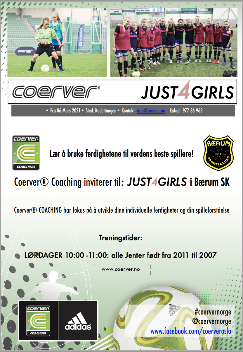 Coerver Just4Girls i Bærum SK