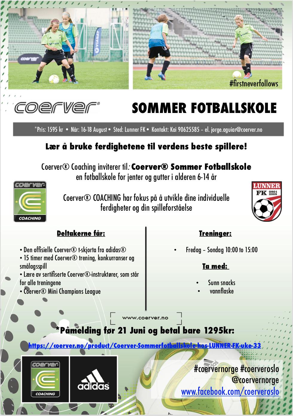 Sommerfotballskole hos LUNNER FK uke 33