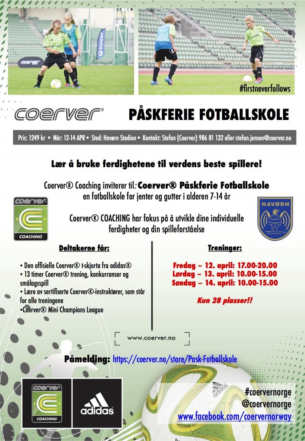 Påskferie Fotballskole hos Havørn IL 12-14 april