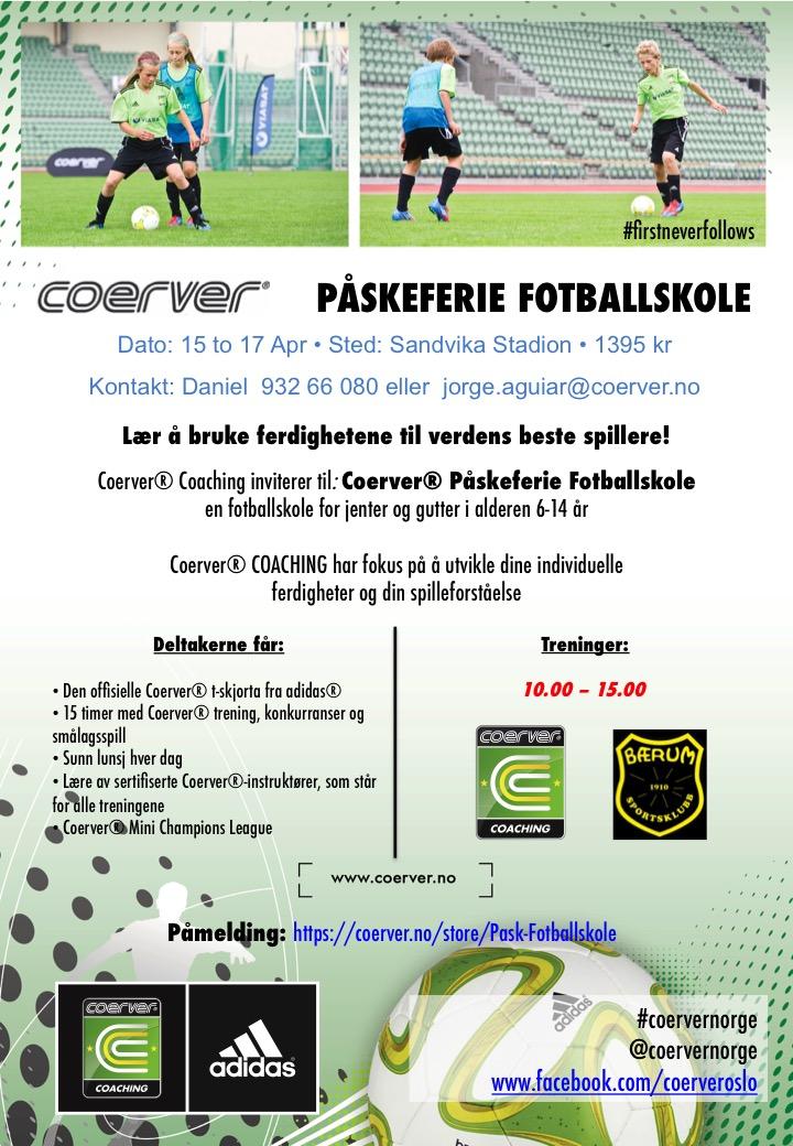 Påskferie Fotballskole i Bærum SK - uke 16
