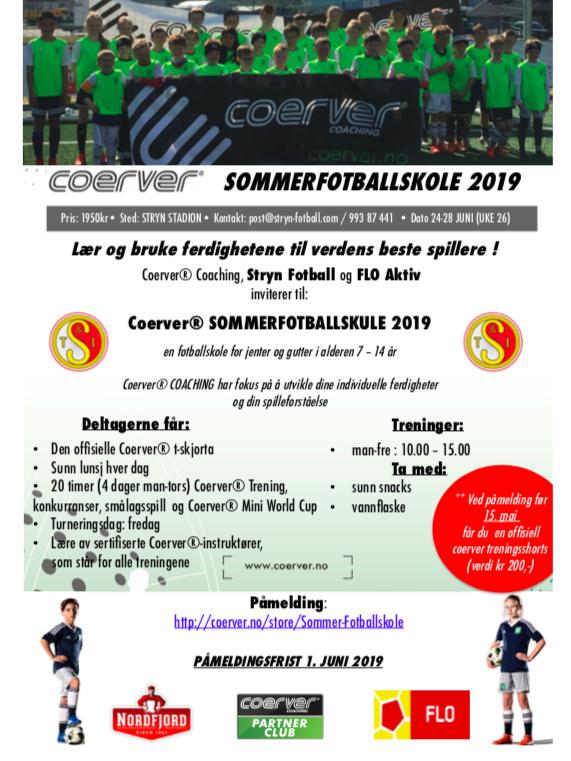 Sommerfotballskule og Flo Aktiv hos Stryn Fotball (UKE 26)