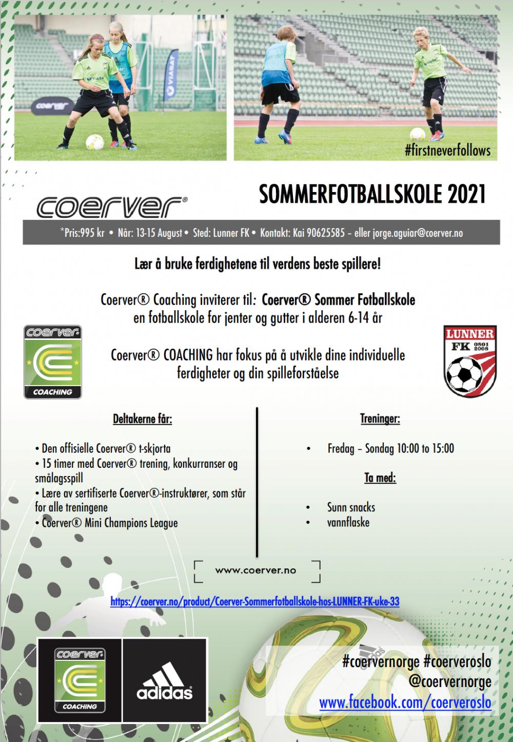 Coerver Sommerfotballskole i Lunner FK 2021
