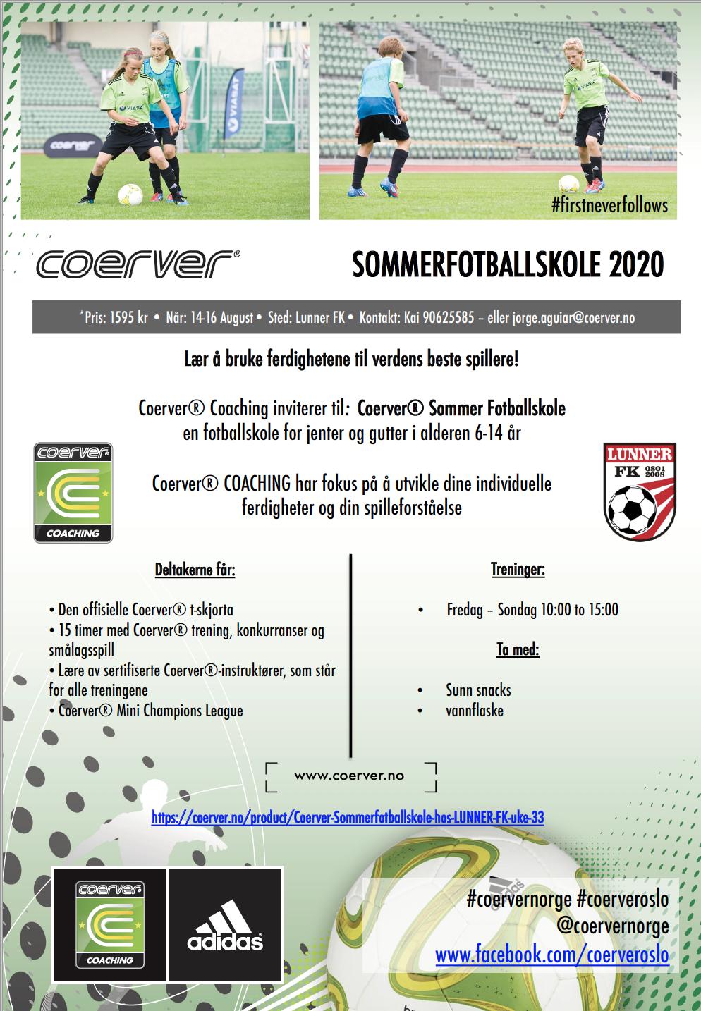 Coerver Sommerfotballskole i Lunner FK 2020