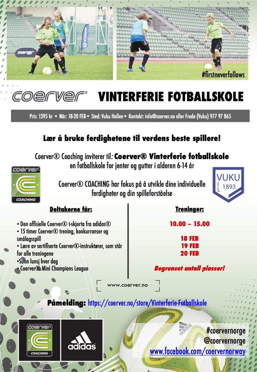 Vinterferie Fotballskole hos Vuku 2019