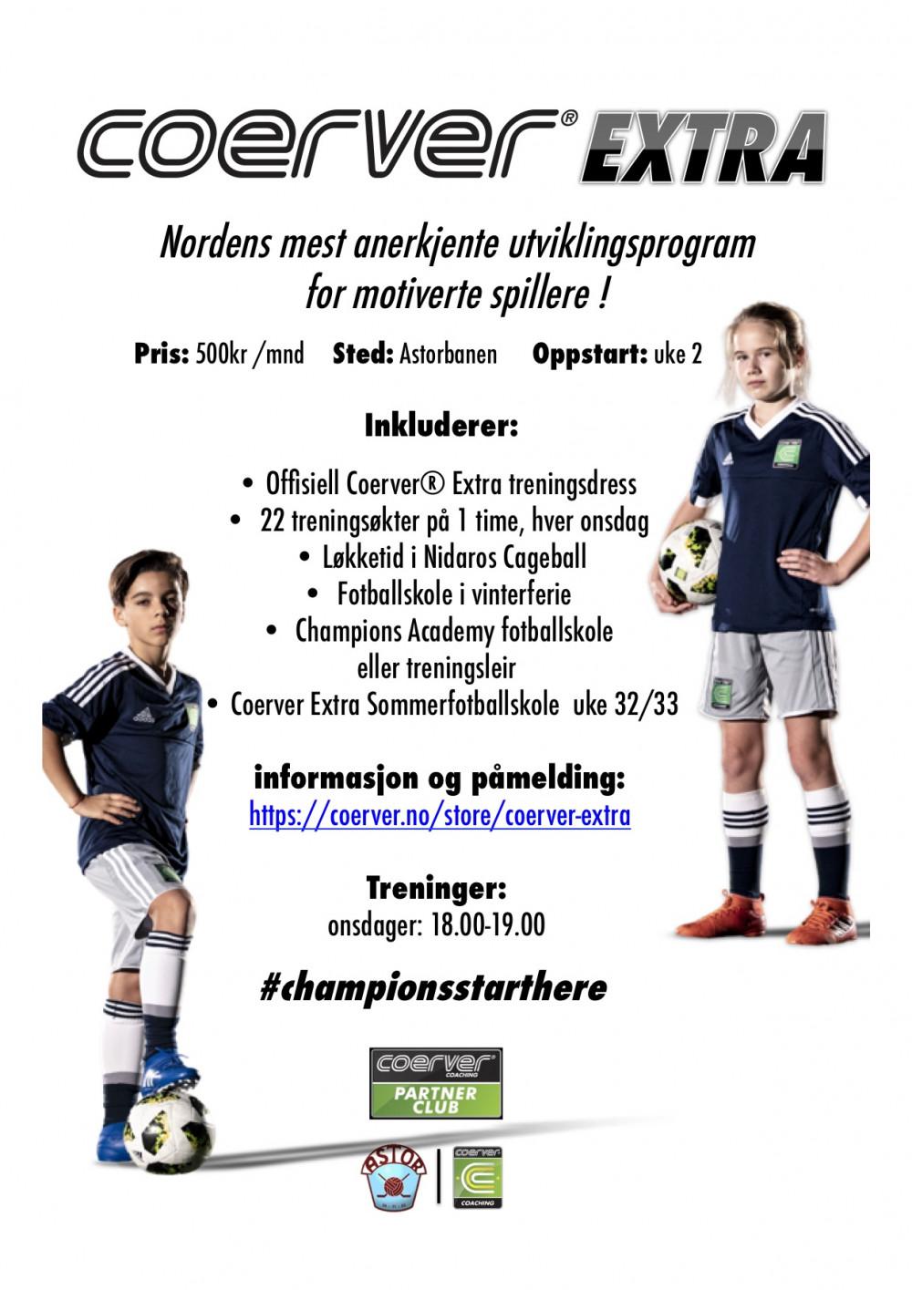 Coerver Extra Trondheim Astorbanen 2020