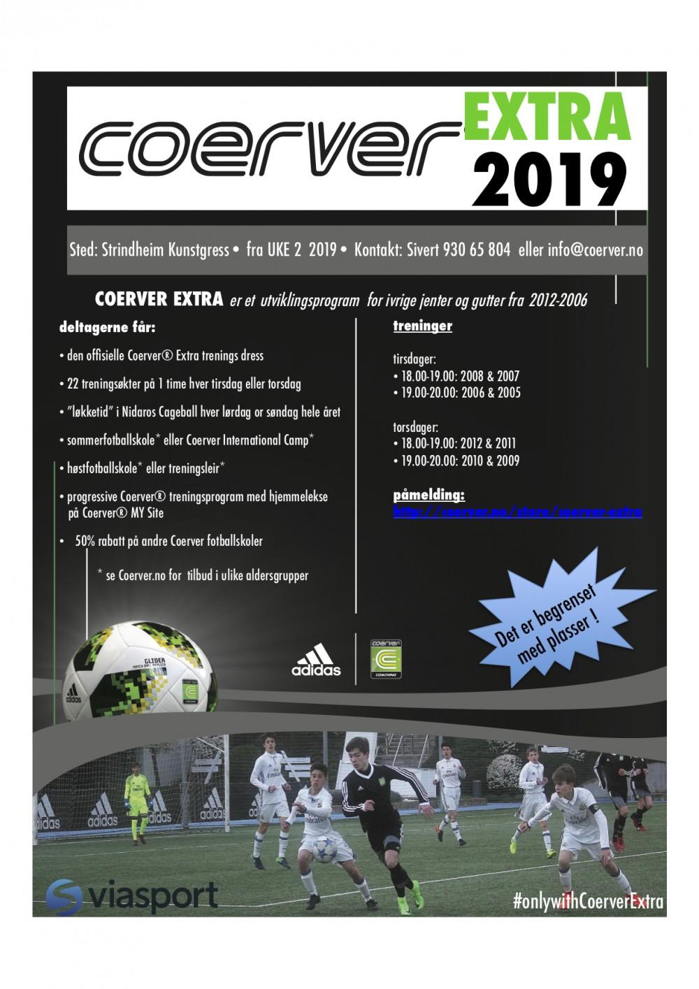 Coerver Extra Trondheim 2019 - født 2006