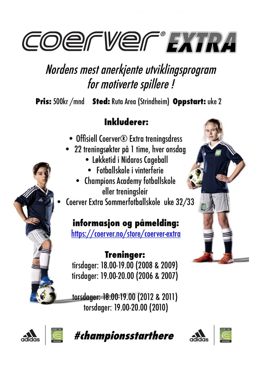 Coerver Extra Trondheim 2020 - født 2006