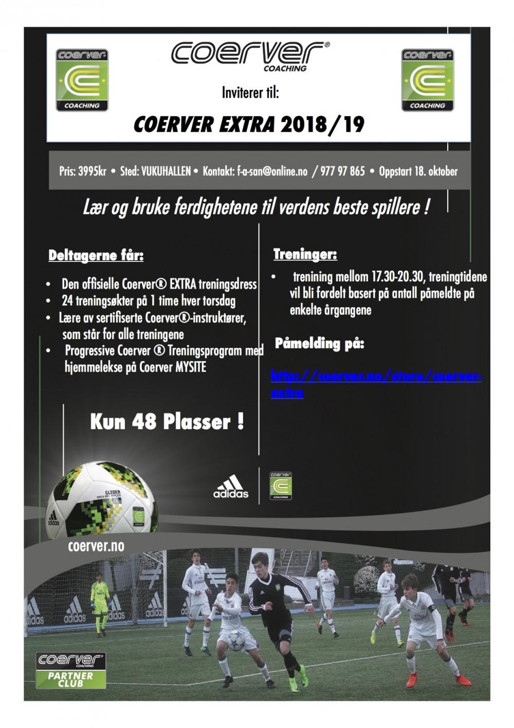 Coerver Extra på Vukuhallen 2018/19