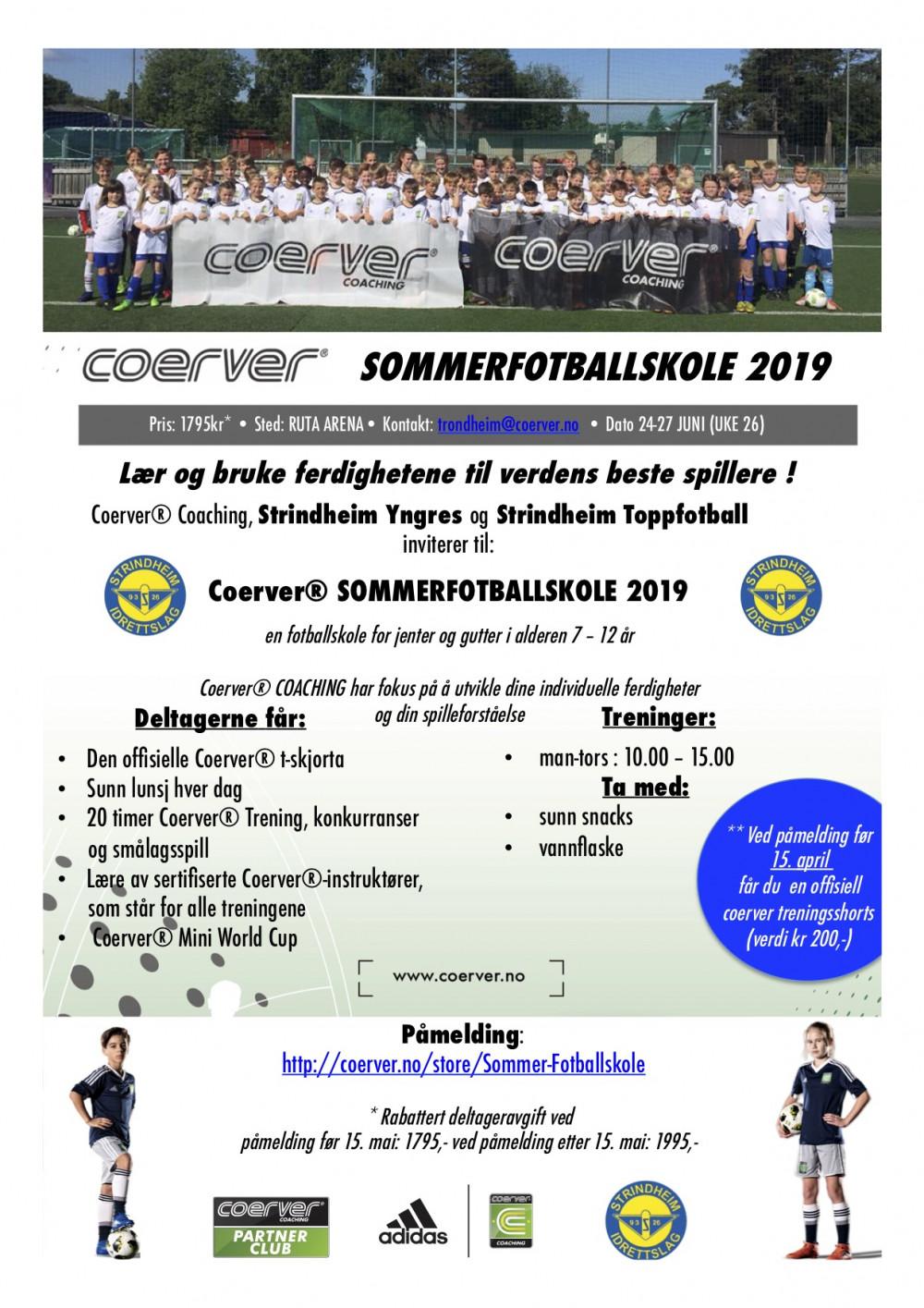 Coerver Sommerfotballskole hos Strindheim IL  (UKE 26) 2006-2012