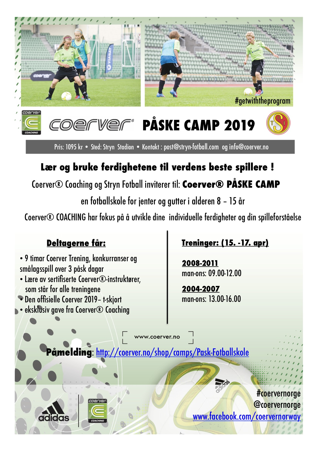 Påsk Camp - hos Stryn Football 2019